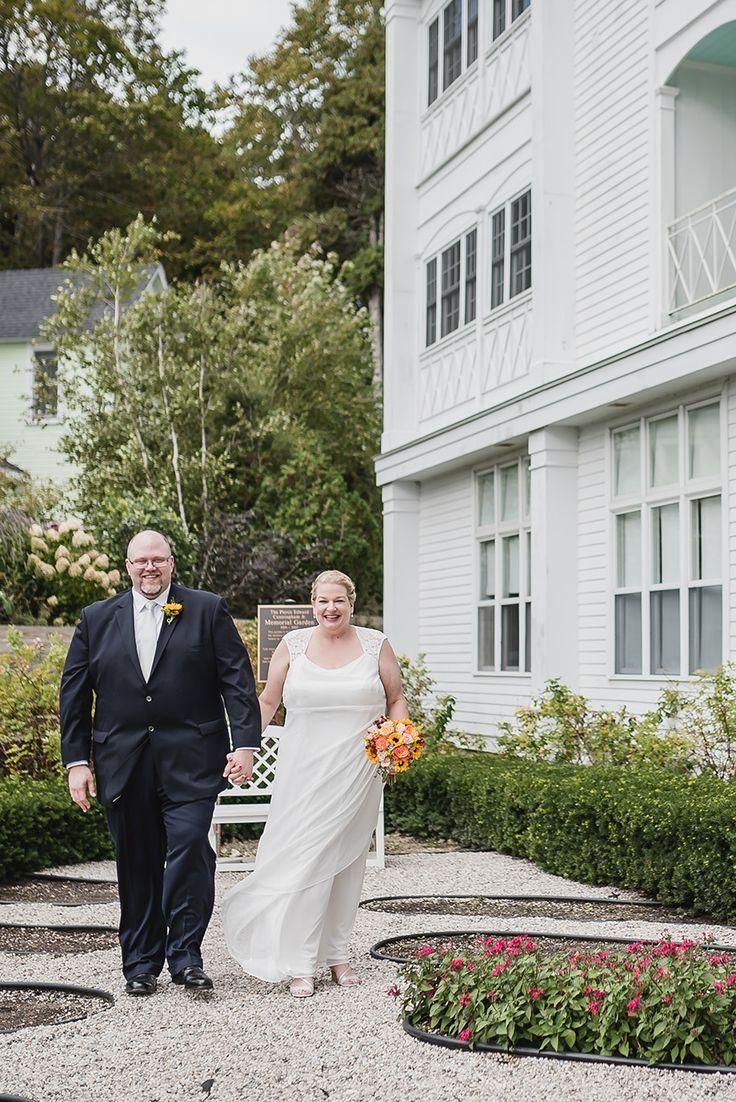 Mackinaw Island Elopement At The Grand Hotel Christy Matt I Do Michigan Destination Wedding Photographer Kari Dawson
