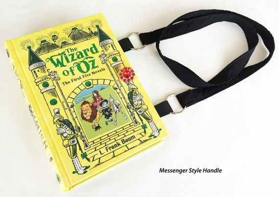 All of the magic of L. Frank Baum original Wizard of Oz stories makes for a beautiful occasion book purse.  This ornate leather bound book is a