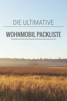 Wohnmobil Packliste Checkliste