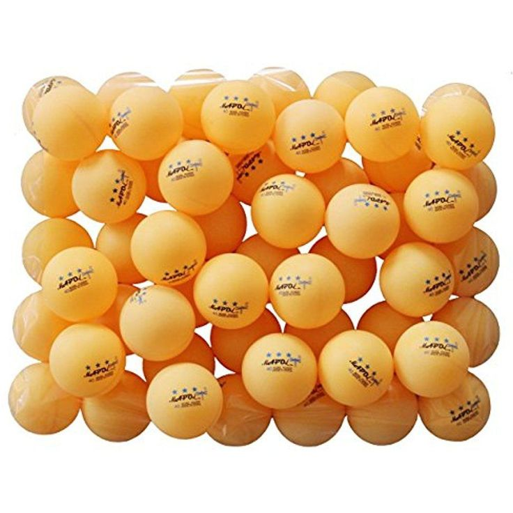 50 Pack Ping Pong Balls Orange 3-Star Premium Advance Training Table School Home #MAPOL