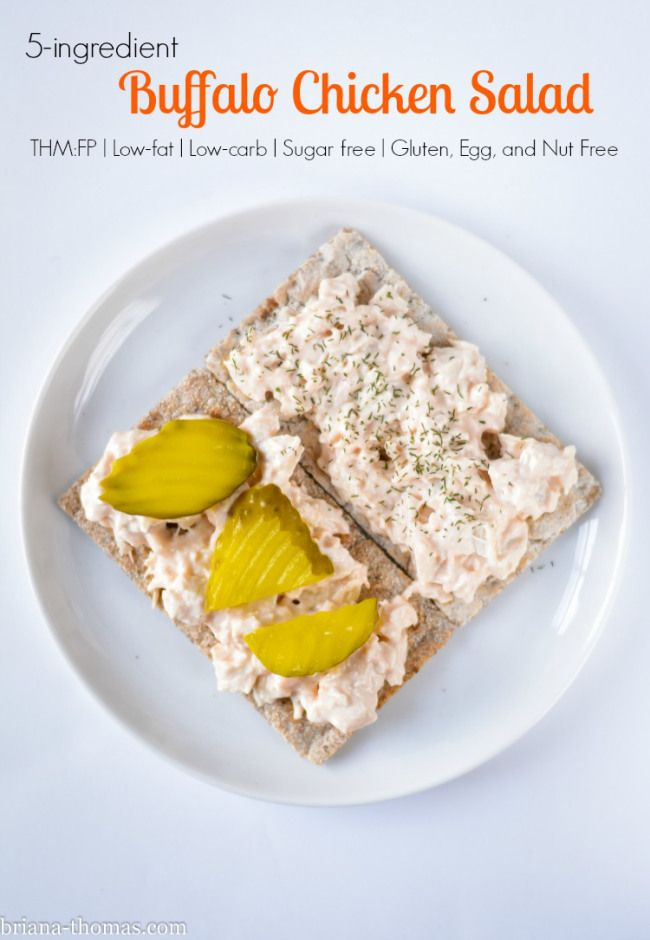 5 Ingredient Buffalo Chicken Salad {THM:FP, Low-carb, Low-fat, Sugar free, Gluten/egg/nut free}