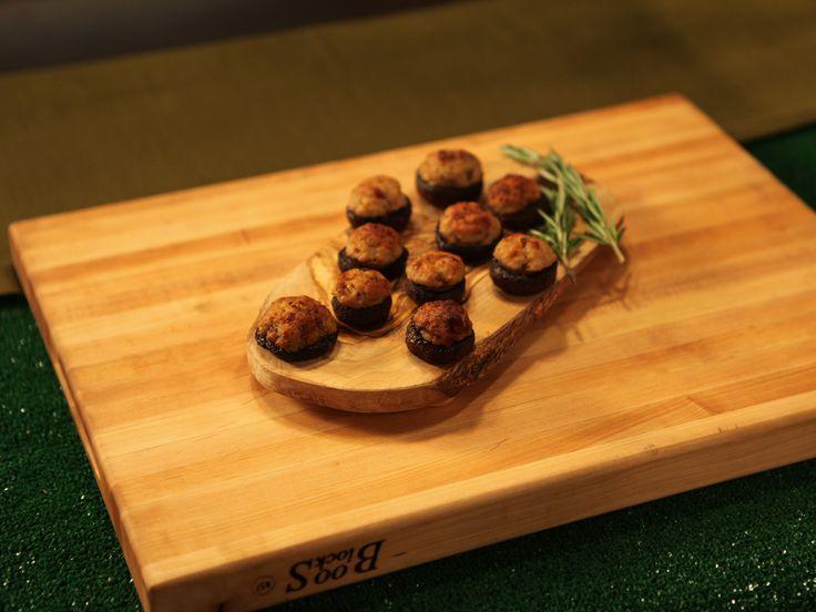 Anne Burrell's Pork and Pancetta Stuffed Mushrooms Recipe