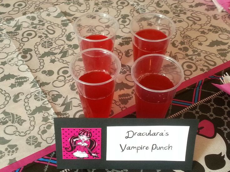 Monster High Party Food: Hawaiian punch