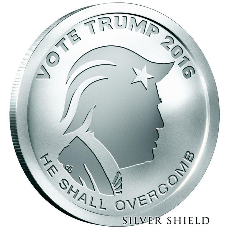 2016 1 oz Oligarchy 999 Silver Shield Vote Trump BU Rounds SBSS Hot !!!