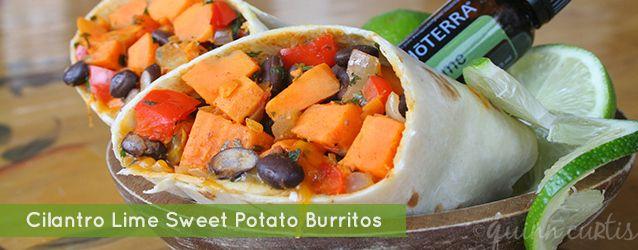 Cilantro Lime Sweet Potato Burritos with doTERRA Essential Oils www ...