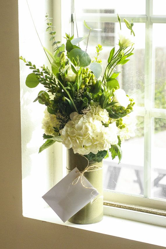 Custom Fresh Floral Arrangement  Hydrangea by SpecimenInteriors, $50.00