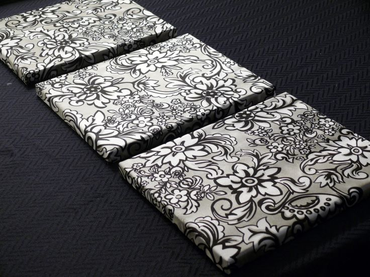 fabric covered canvases