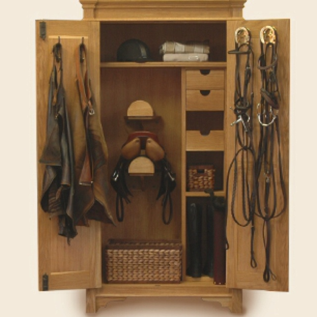 The Armoire that dreams are made of! | Tack room, Tack ...