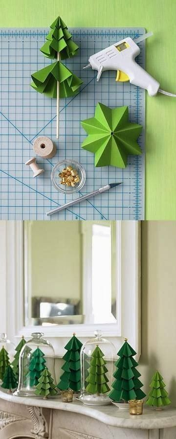 Cool DIY paper Christmas trees