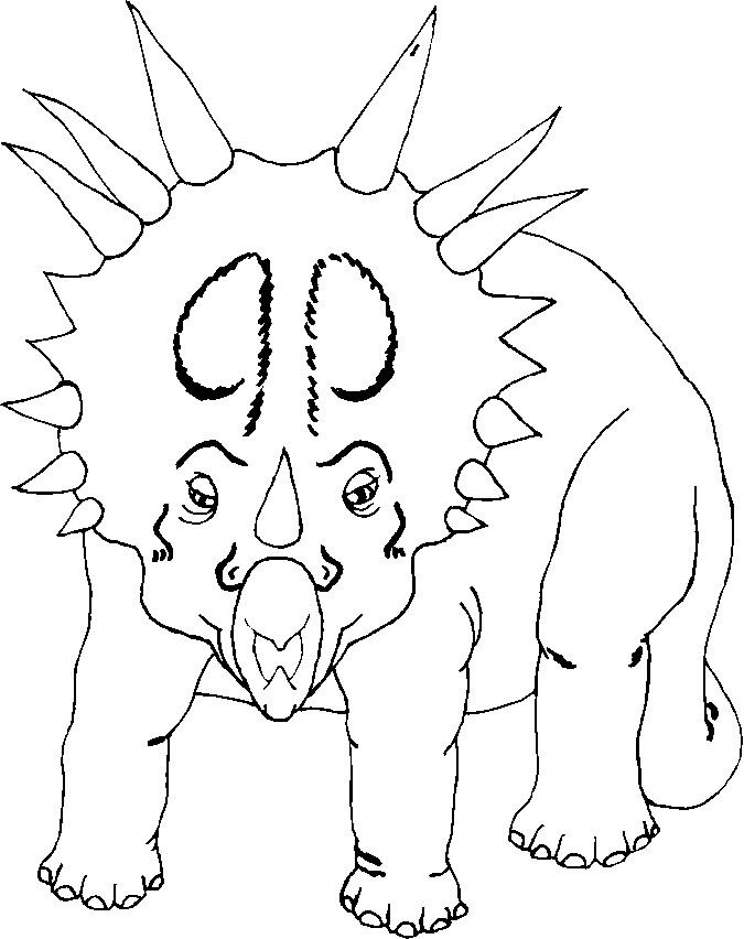 Triceratops' face coloring page (With images) Dinosaur