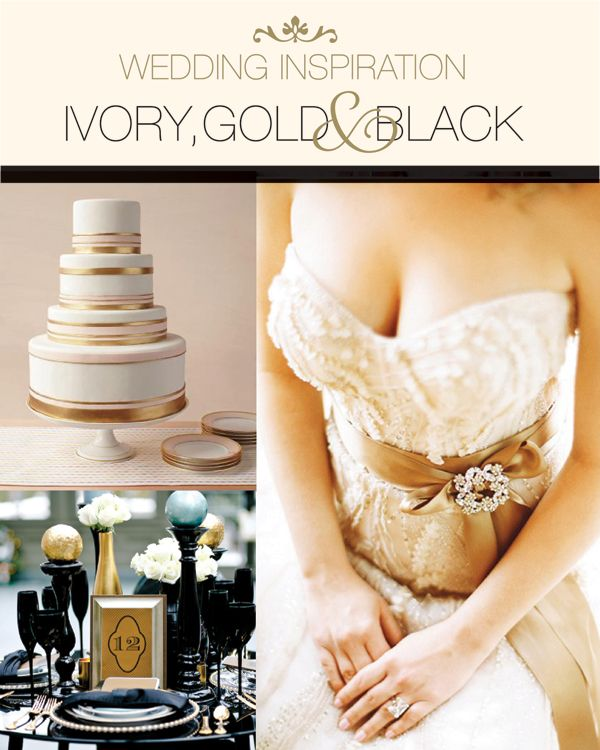 Ivory And Gold Wedding Decorations: 20 Best Images About Ivory, Gold, & Black Wedding On Pinterest