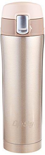 LifeSky Stainless Steel Insulated Travel Coffee Mug 16 oz Champagne