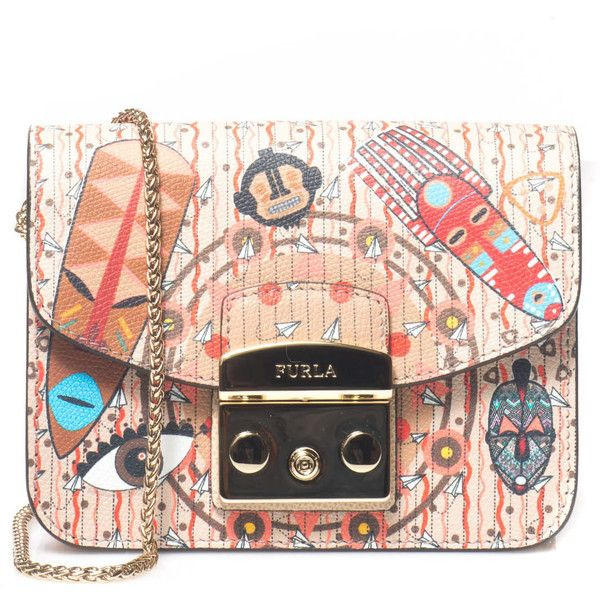 Furla Clutch bag (2,170 GTQ) ❤ liked on Polyvore featuring bags, handbags, clutches, multicolor, colorful handbags, clasp purse, furla purses, multi colored handbags and furla pochette