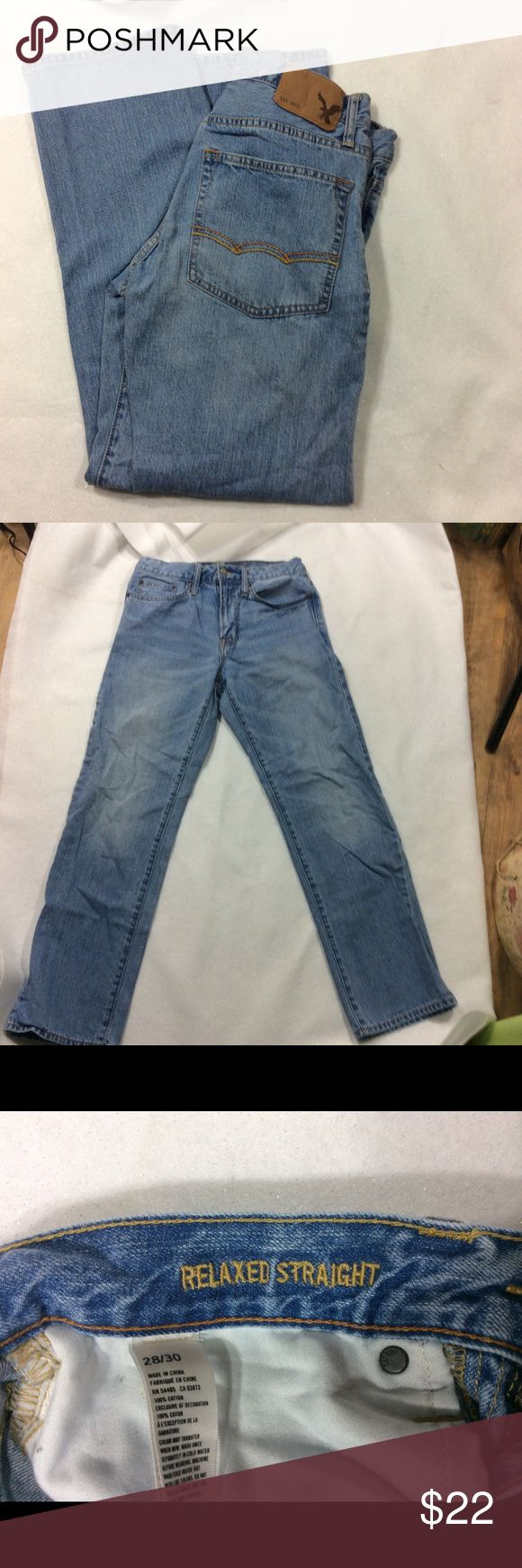 American eagle men's jeans 28/30 American eagle jeans size 28/30 relaxed straight American Eagle Outfitters Jeans Straight