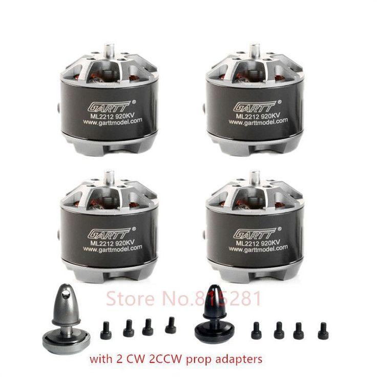 4 X GARTT ML 2212 920KV 230W Brushless Motor with Self-Locking Adapter For DJI Phantom 2 3 4 Quadcopter F450 Multirotor Drones