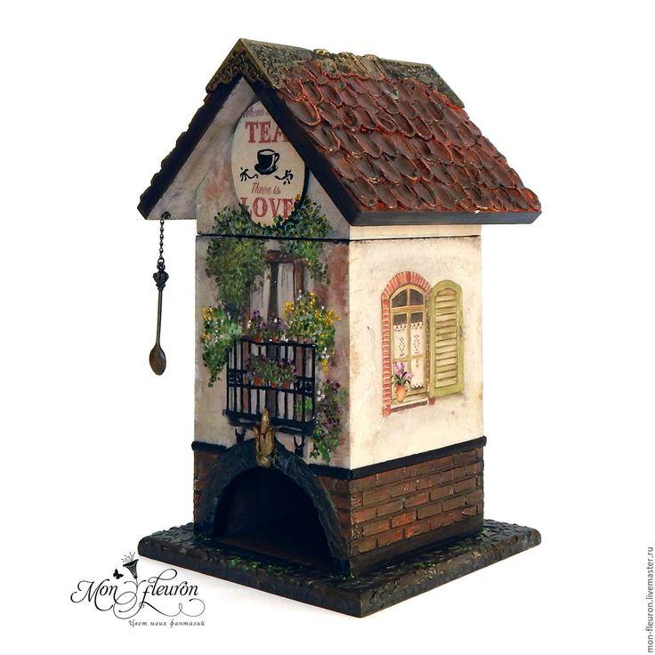 """Купить Домик для чая """"Прованс"""" - разноцветный, домики, чайный домик, чайная коробка, подарок девушке"""