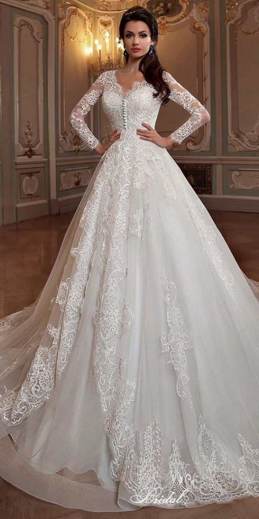 +28 Lace a Line Wedding Dress with Sleeves Vintage Bridal Gowns Guide – mswhomes…