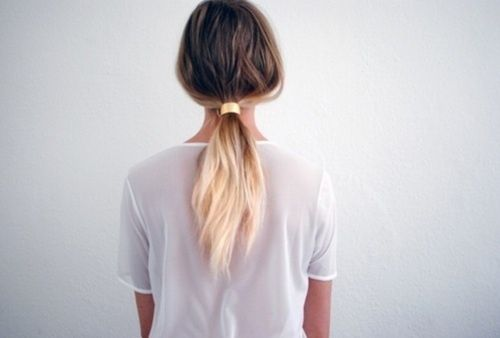 Instead of using bleach to ombre hair, instead use a homemade natural lightening spray on your hair before heading to the pool. Mix lemon juice and water in a spray bottle and spray the end of hair. The sun, combined with the lemon juice, will gradually and naturally ligthten wherever the lemon juice mixture is sprayed. OR baking soda, lemon juice, overnight without sun for winter