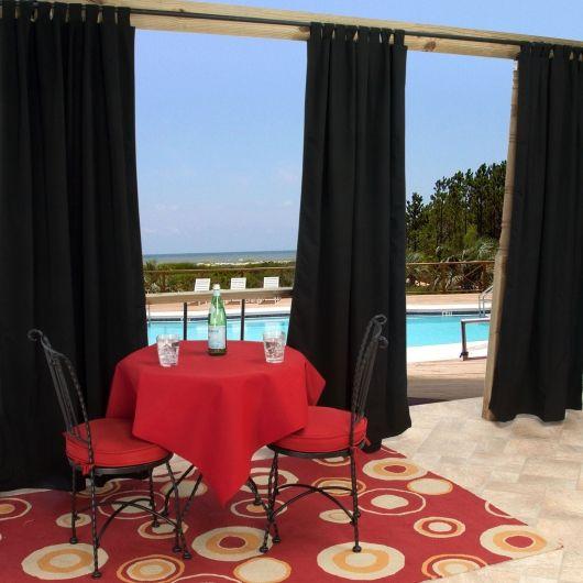 outdoor curtain rods | Backyard | Pinterest