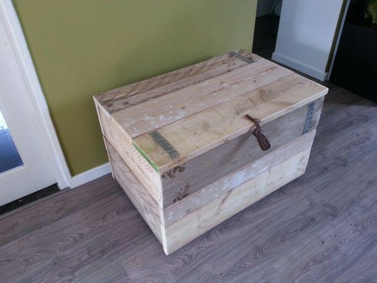Steigerhouten kist    Handmade W&J