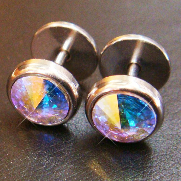 0 gauge fake ear plugs jewel box pinterest gauges