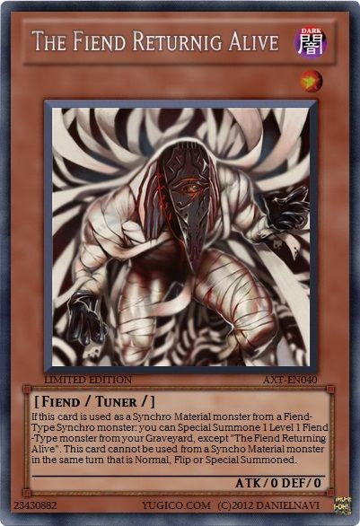 YugiCo.com Price Guide | Yu-Gi-Oh! Cards | danielnavi Created Cards Aztrix Revolizione AXT-EN040 The Fiend Returnig Alive