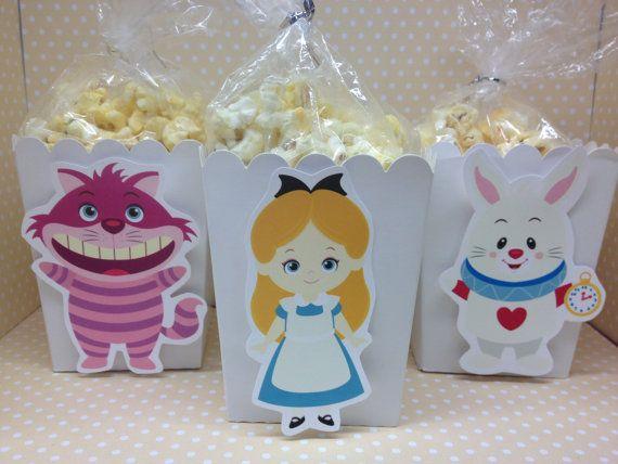 Alice au pays des merveilles-Mad Hatter pop-corn Party ou boîtes faveur - Set de 10