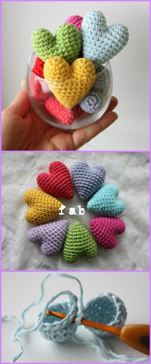 Crochet Heart Amigurumi Free Patterns With Video Tutorial