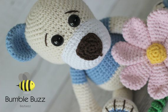 Little Benny Blue Bear  Teddy Bear with by BumbleBuzzBaybeez