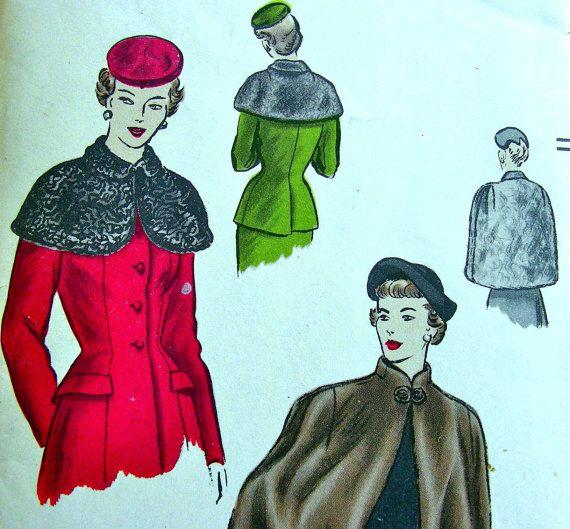 UNCUT  1940er Jahre Vintage Vogue Muster 6558 / / von anne8865