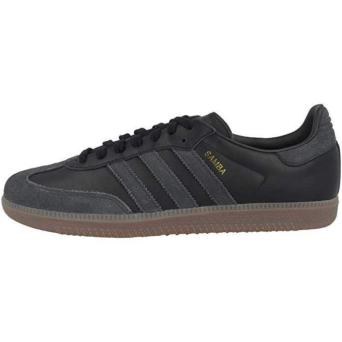 Adidas Samba Og Schuhe Herren Schwarz Mit Schwarzen Streifen Schuhe Herren Schwarze Schuhe Adidas Samba