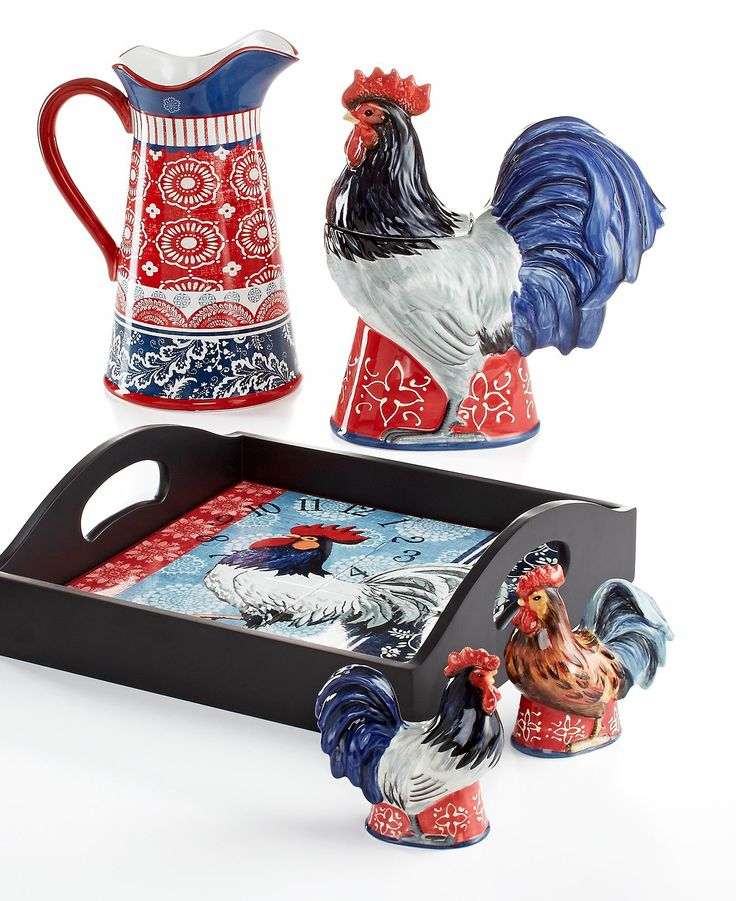 Chicken And Rooster Decor Part - 38: Certified International Serveware, Americana Rooster Collection - Casual  Dinnerware - Dining Entertaining - Macyu0027s