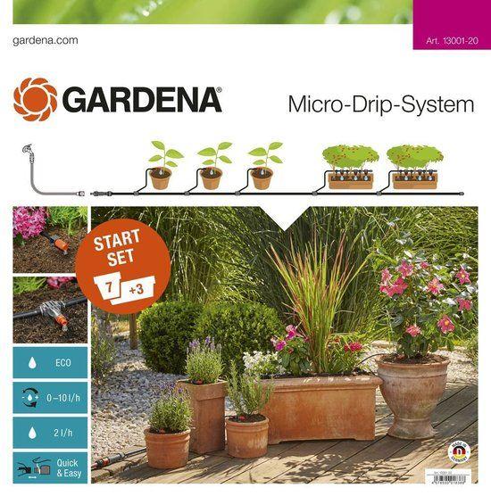Lovely GARDENA Micro Drip System startset Geschikt voor bloempotten bloembakken