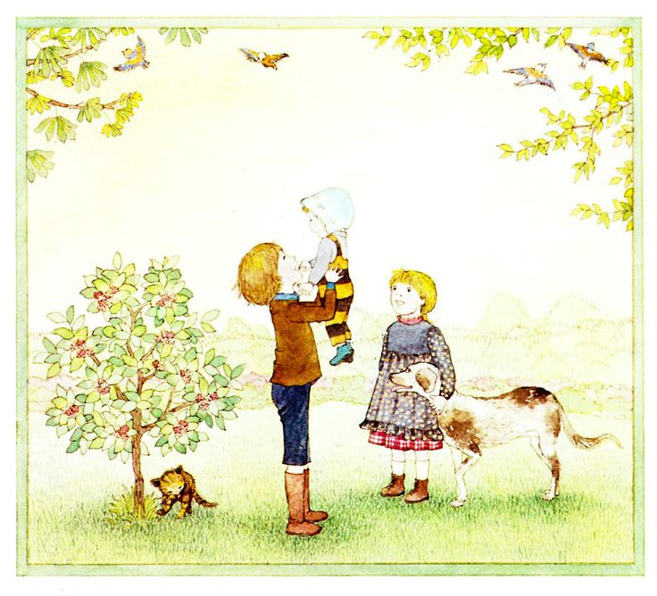"""Suzette and Nicholas in the Garden"" by Satomi Ichikawa, 1986 (http://www.themarlowebookshelf.blogspot.ca/2013/03/suzette-and-nicholas-in-garden.html)"