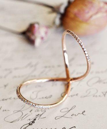 Diamond Love Twist ring by Meredith Kahn