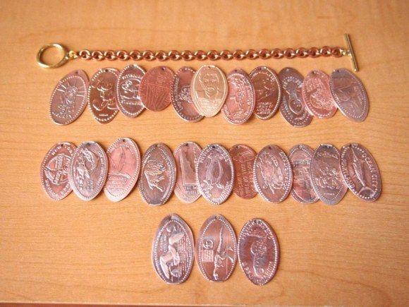 я тоже коллекционирую такие монетки, скоро на браслет хватит!    souvenir pressed penny bracelet