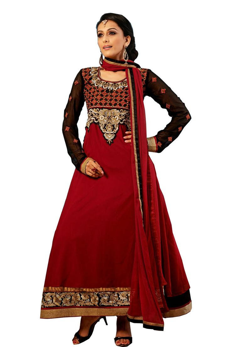 Maroon Anarkali Churidar Suit And Maroon Dupatta  Price:-£45.00  Eyeconik Designer Churidar Suits now in store Presented by Andaaz fashion like Maroon Anarkali Churidar Suit And Maroon Dupatta. Dress are embellished with embroidered, Patch, Resham, Stone, Zari, Full sleeve Suit, Full sleeve Kameez, Ankle Length Kameez. This is perfect for Party, Wedding, Festival, Ceremonial  http://www.andaazfashion.co.uk/maroon-anarkali-churidar-suit-and-maroon-dupatta-dmv13188.html
