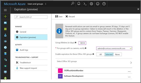 Azure AD Automated Expiration for Office 365 Groups is now in Public Preview – Enterprise Mobility + Security