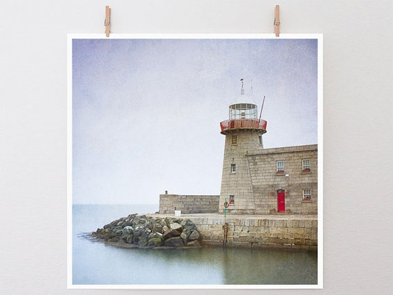 Lighthouse at Sunrise in Dublin  Dreamy by GreenGooseGallery, $65.00