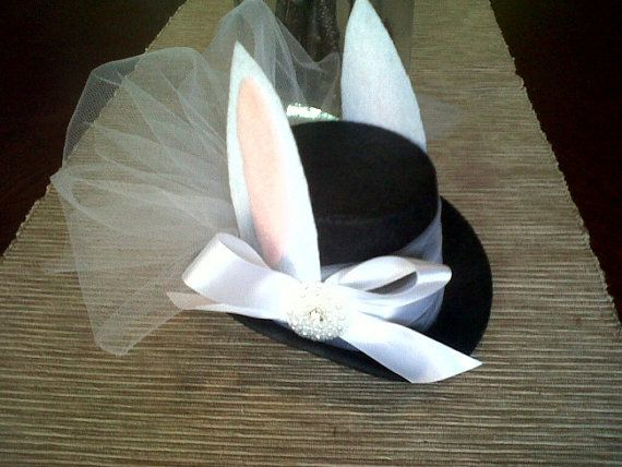 White Rabbit Mini Top Hat by michelleallsop on Etsy, $30.00