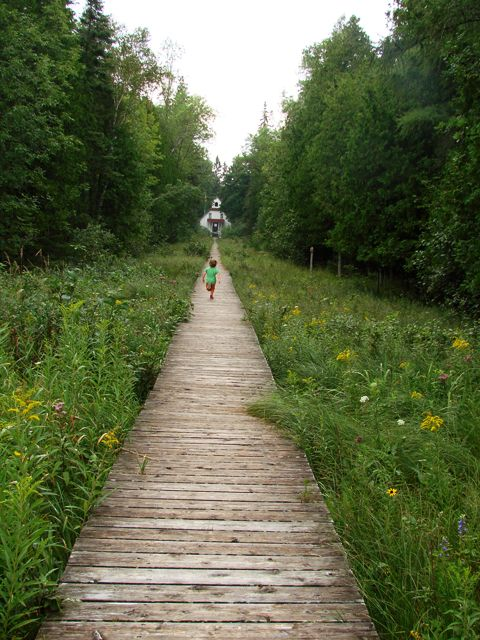 Located at the north end of town, The Ridges Sanctuary is a great place to discover Door County's Wild Side! Miles of trails, guided hikes, and two lighthouses make this a favorite spot for adventurers. Baileys Harbor, Door County, WI, USA