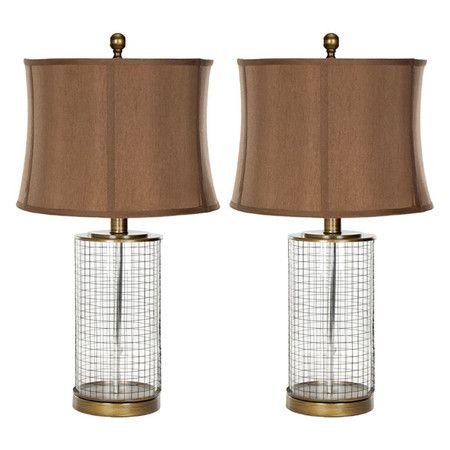 I pinned this vaughan table lamp set of from the safavieh event at joss and main