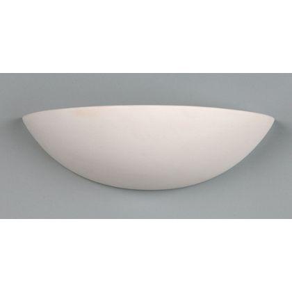 Ceramic Slimline Wall Uplighter - White - 33cm