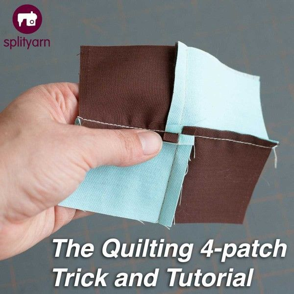 The Quilting 4-Patch tutorial on Splityarn.com. How to avoid bulky seams in a four patch or nine patch