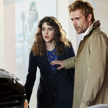 Lucy Griffiths and Matt Ryan as Liv and Constantine. I'm sorry for this.