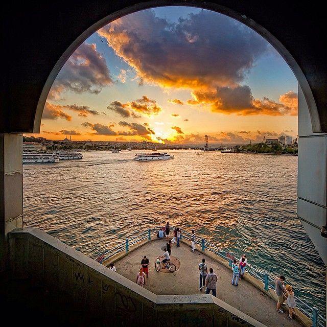 """Galata Bridge, Golden Horn"" ISTANBUL, Turkey. Instagram photos | armadaistanbul.com..."