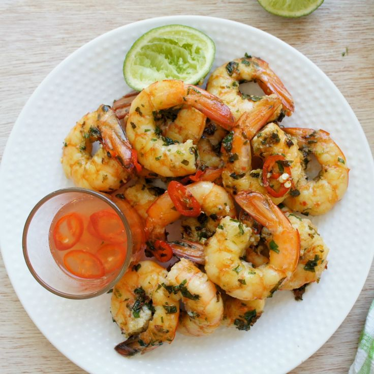 Just looking at the picture of these Chilli Prawns by marie makes us want to race home and make these!