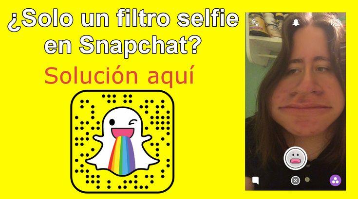 Snapchat solo muestra un filtro Selfie tras actualizar la app en iPhone con iOS o Android. Trae los efectos selfies de vuelta. #Snapchat #iOS #iPhone #Android #FiltrosSnapchat #EfectosSnapchat downloadsource.es