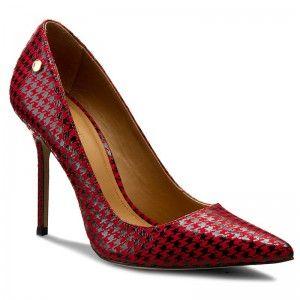 Pantofi cu toc subțire KAZAR - Bianca 16278-02-57 Czarny/Czerwony