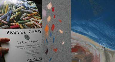 "Sennelier Pastel Card: Sennelier pastel card comes in an array of colors, and has a fine-textured surface that really grips pastel. (<a href=""http://0.tqn.com/d/painting/1/0/v/N/2/sennelier-pastel-card.jpg"">See larger photo</a>)"